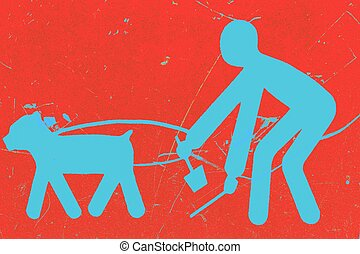 pick up after your dog - a sign that indicates that people ...