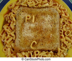 pick up bitch written in spaghetti letters