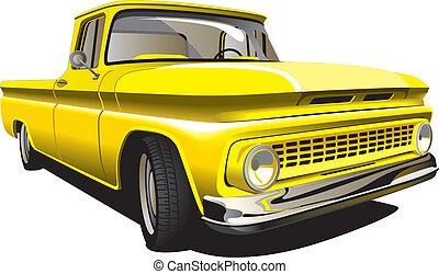 pick-up, jaune