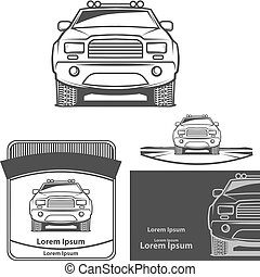 pick up logo elements - pick up front view, club logo,...