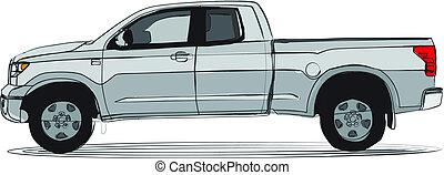 Pick-up truck artistic colors