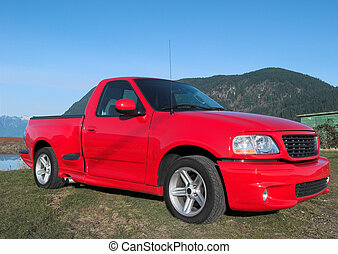 Pick up truck - Red truck