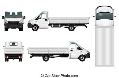 pick-up, vecteur, camion, illustration.