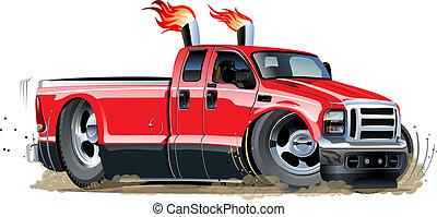 pick-up, vecteur, dessin animé