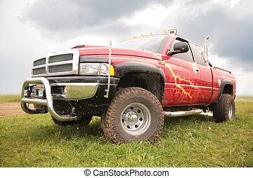 pick-up, vermelho