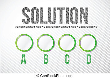 pick your appropriate solution illustration design graphic