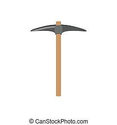 pickaxe construction tool icon design