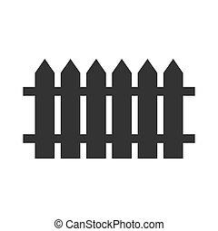 Picked fence black icon illustration simple design vector