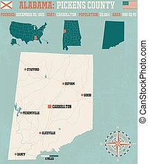 Pickens County in Alabama USA