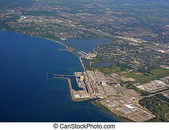 Pickering Nuclear Power plant aerial