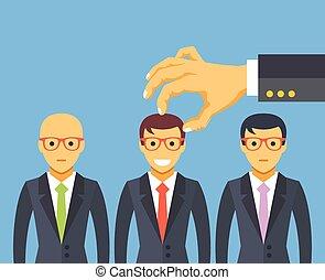 picking, bedst, kandidat, hånd