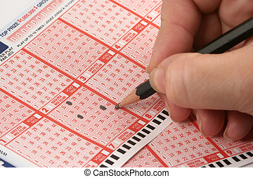 picking numbers for the lottery