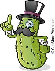 pickle, cavalheiro, caricatura, personagem