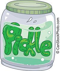 Pickle Jar - Illustration of a Pickle Jar