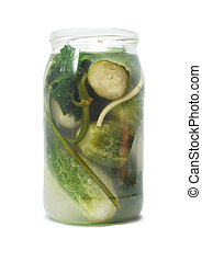 pickle jar isolated on white