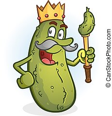 Pickle King Cartoon Character - The glorious dill pickled...