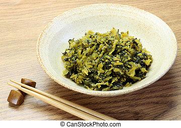 pickle of the Chinese mustard - This is called takanazuke...