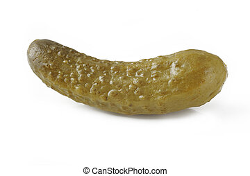 pickle on white background