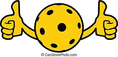pickleball, braços, bola