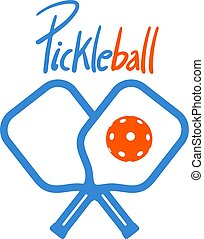 pickleball cross rackets symbol style