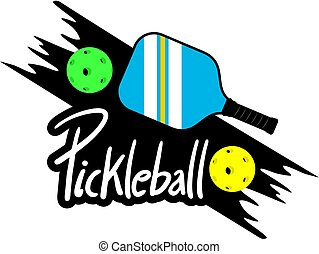 pickleball, símbolo, diseño