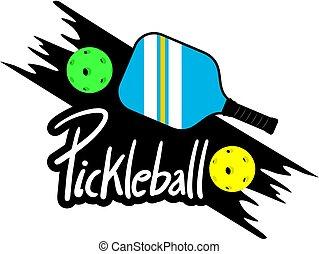 Creative design of Pickleball symbol