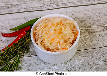Pickled cabbage - sauerkraut
