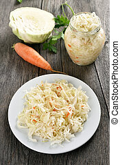 Pickled marinated cabbage