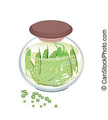 Pickled Sweet Green Pea in A Jar