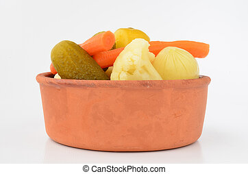 Pickles in bowl