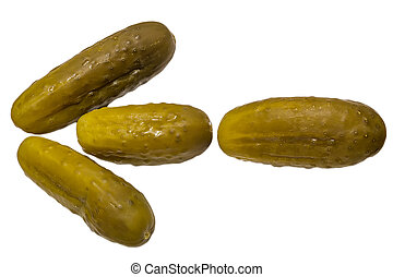 Pickles in the form of an arrow