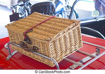 picknic basket - picnic basket at the oldsmobile convertible