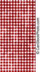 picknick, weefsel, rood