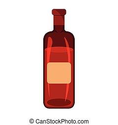 picknick, witte , illustratie, etiket, achtergrond., vector, icon., style., spotprent, bbq, wijntje