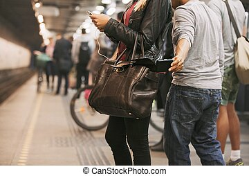 pickpocketing, station, tunnelbana