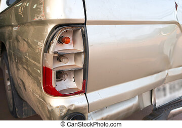 Pickup car was an accident, the tail light is broken