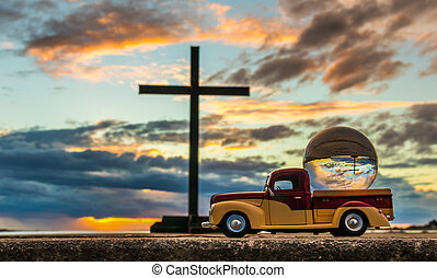 Pickup Cross Globe