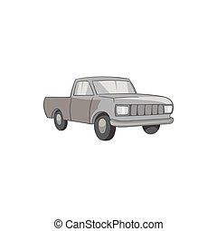 Pickup icon, black monochrome style