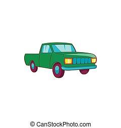 Pickup icon, cartoon style