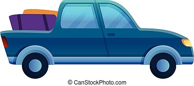 Pickup trip icon, cartoon style