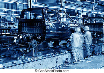 ickup truck production line