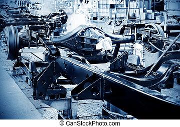 Pickup truck production workshop - Factory floor, pickup...