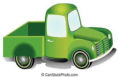 Pickup truck, graphic design illustration of an Pickup truck...