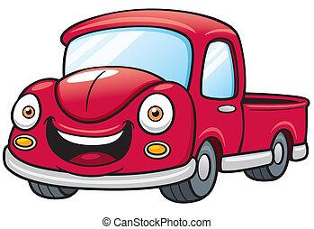 Pickup - Vector illustration of Cartoon car pickup