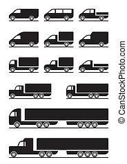 pickups, caminhões