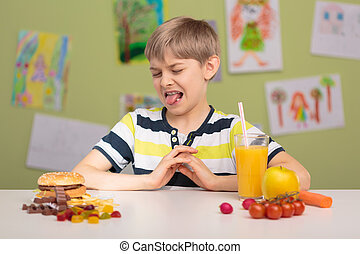Picky eater and his diet - Photo of small picky eater and ...