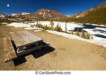 Picnic - A picnic spot at the Yosemite national park.