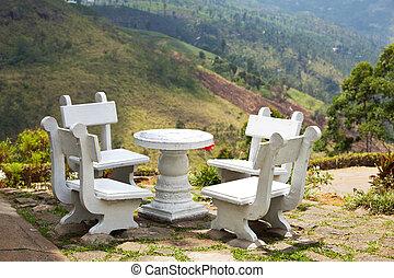 Picnic area - resting area in garden
