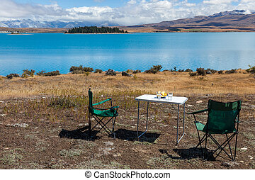 Picnic at Lake Tekapo