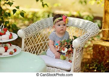 picnic, bambino